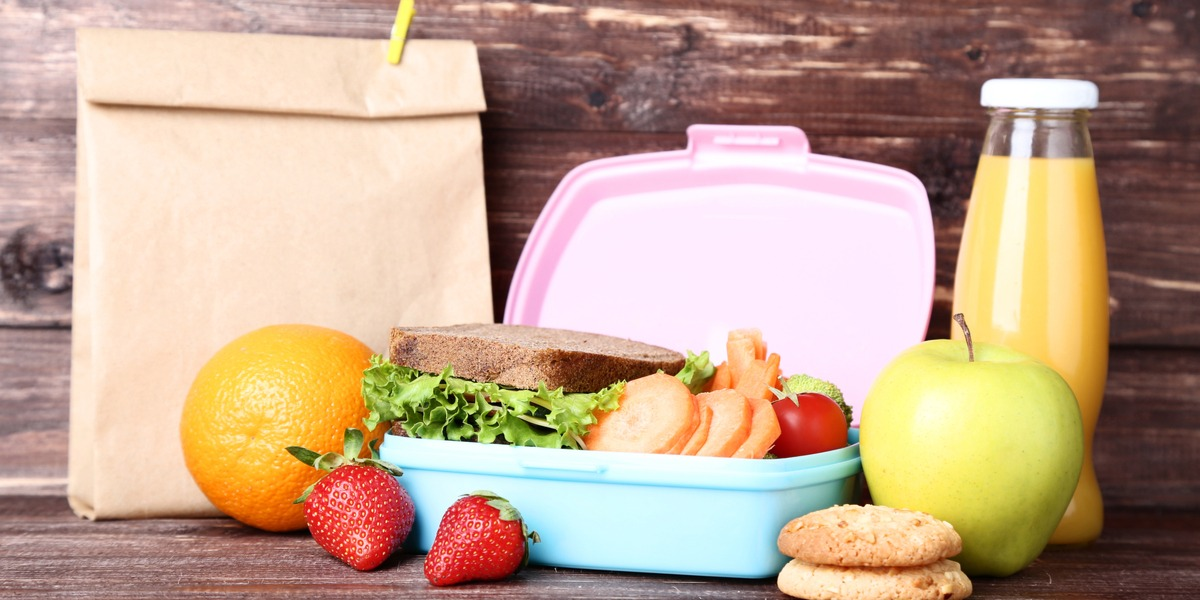 A lunch box full of delicious food
