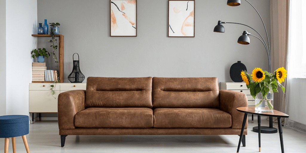 safely clean my leather sofa at home