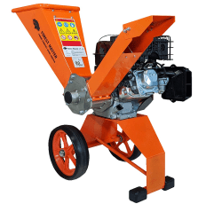 Forest Master Petrol Wood Chipper on a white background