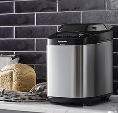 Panasonic SD-ZB2502BXC Stainless Steel Bread Maker on countertop