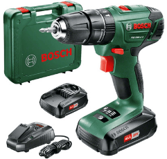 Bosch Cordless Combi Drill on white background