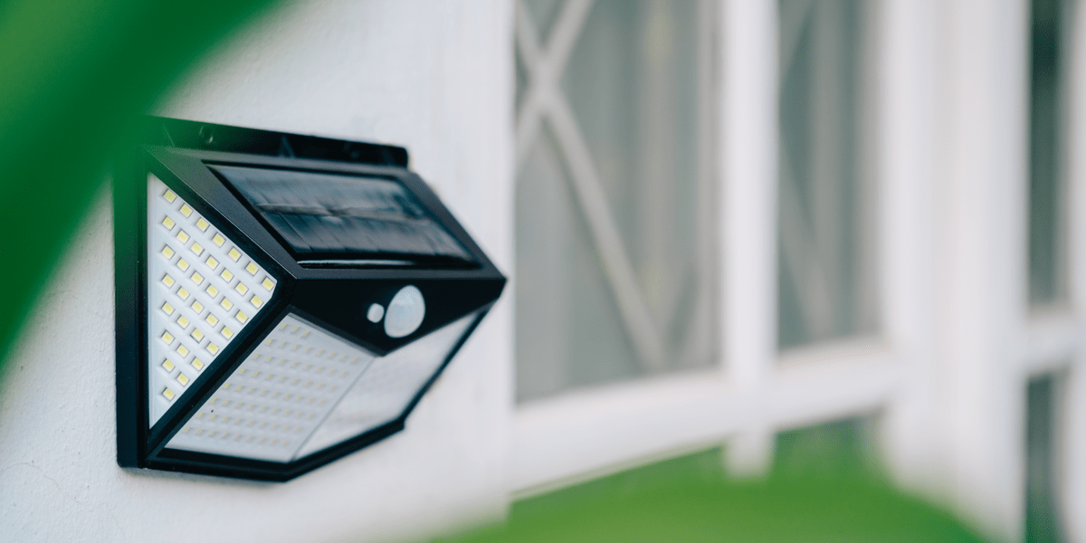 beautiful garden wall solar light for décor and security on white wall