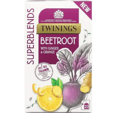 Twinings Superblends Beetroot Tea on white background