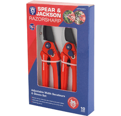 Spear & Jackson CUTTINGSET3 Secateurs on White Background