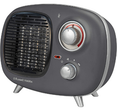 Russell Hobbs Retro Ceramic Electric Heater on white background