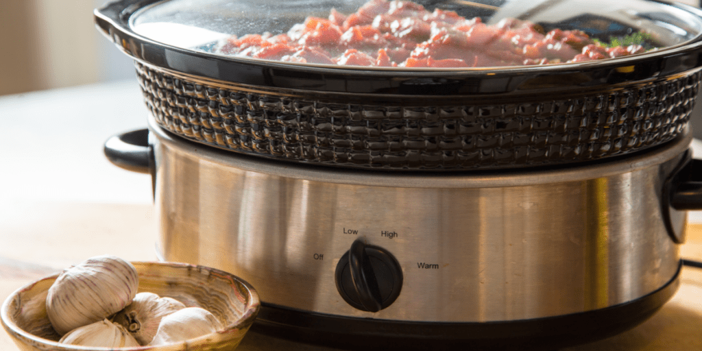Preparing a meal in a slow cooker
