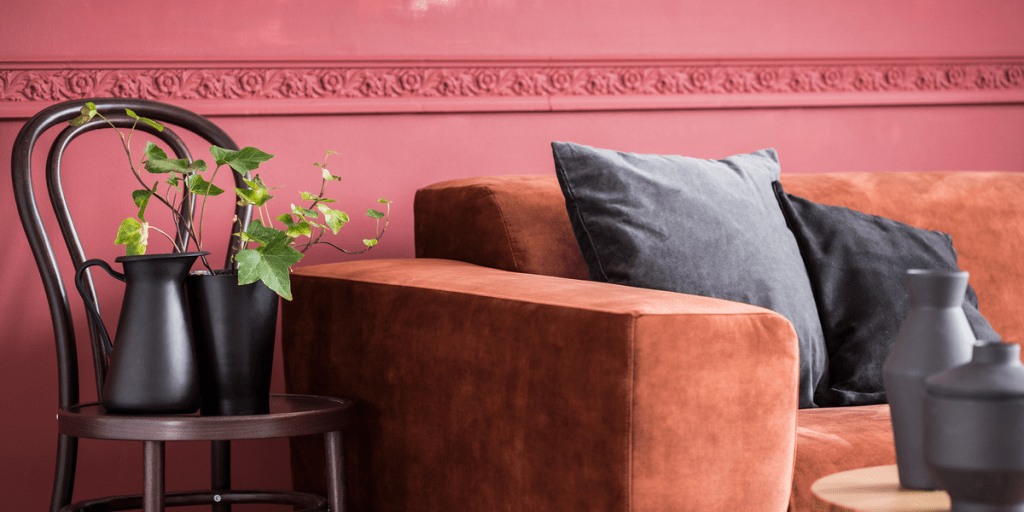 Comfortable suede couch