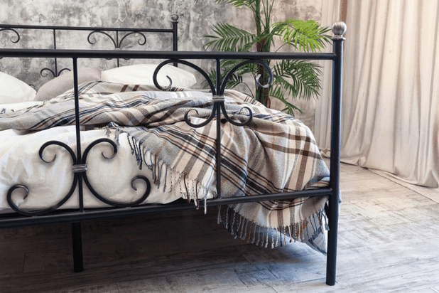double iron bed